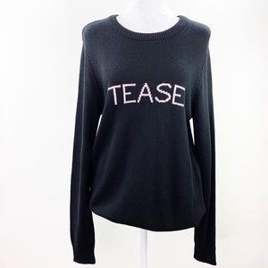 Victorias Secret Tease Black Cashmere Sweater NWT
